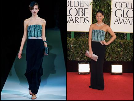 Giorgio Armani, Golden Globes, Olivia Munn, Red Carpet