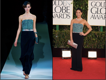 Giorgio Armani, Golden Globes, Olivia Munn, Red Carpet