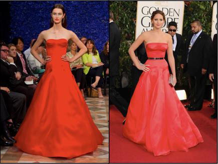 Dior Couture, Golden Globes, Jennifer Lawrence, Runway