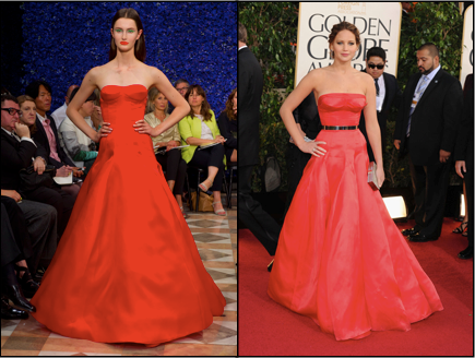 Dior Couture, Golden Globes, Jennifer Lawrence, Runway