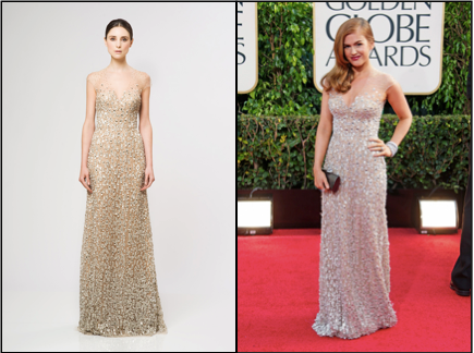 Reem Acra, Golden Globes, Red Carpet, Isla Fisher