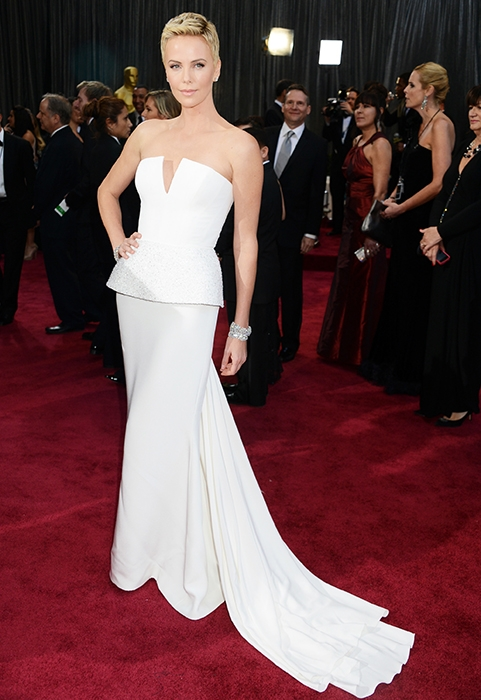 Charlize Theron, 2013 Academy Awards, Oscars, Red Carpet, Dior Haute Couture