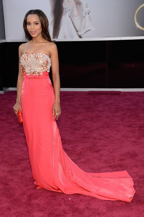 Kerry Wasington, 2013 Academy Awards, Oscars, Red Carpet, Miu Miu